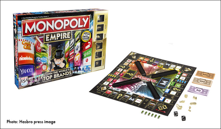 Photo of Monopoly Empire game and game board