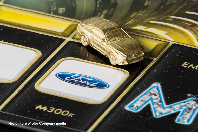 Photograph of new Ford Mustang game piece
