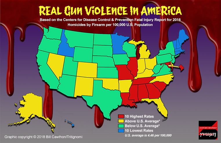 Gun Laws By State Map 2018.Pumping The Numbers Part Two Tritignomi